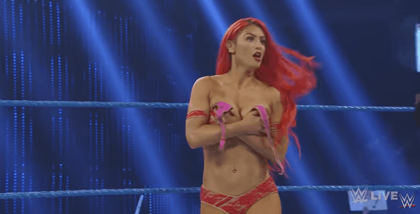 Eva Marie Has A Wardrobe Malfunction On Smackdown Live Video
